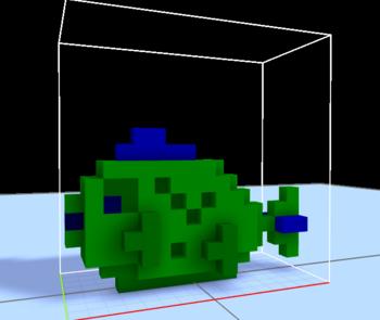 MagicaVoxel 魚2